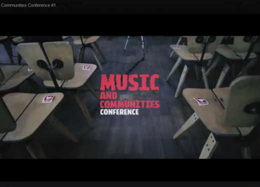 Watch the full Music and Communities Conference #1